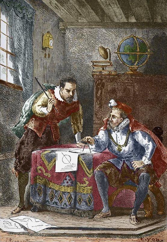Tycho Brahe en Johannes Kepler